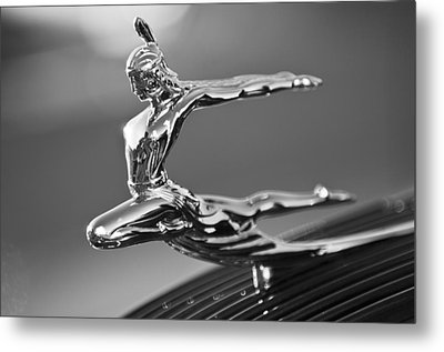 1935 Pontiac Sedan Hood Ornament 4 Metal Print