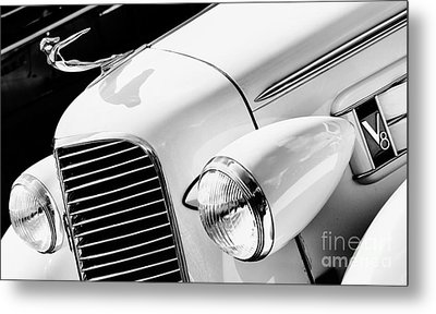 1936 Cadillac V8 Monochrome Metal Print by Tim Gainey