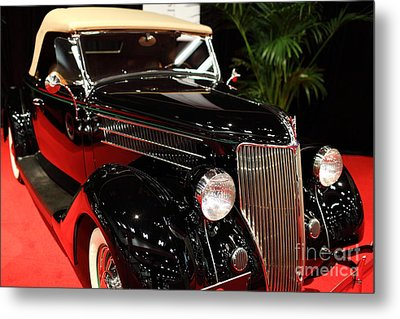 1936 Ford Deluxe Roadster - 5d19963 Metal Print by Wingsdomain Art and Photography