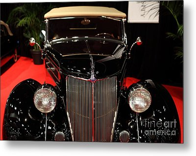 1936 Ford Deluxe Roadster - 5d19964 Metal Print by Wingsdomain Art and Photography