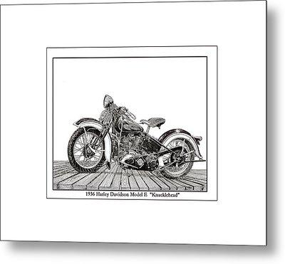 1936 Harley Knucklehead Metal Print