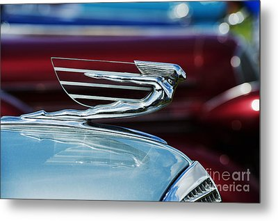 1937 Cadillac Hood Ornament Metal Print by Tim Gainey