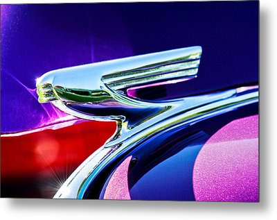 1937 Chevrolet 2 Door Sedan Hood Ornament -0834c Metal Print