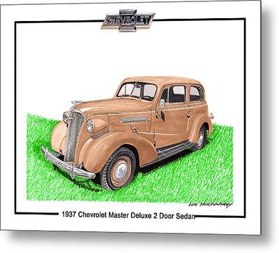 1937 Chevy Master Deluxe 2 Dr Sedan Metal Print