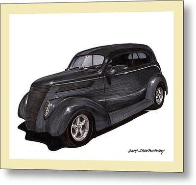 1937 Ford 2 Door Street Rod Metal Print
