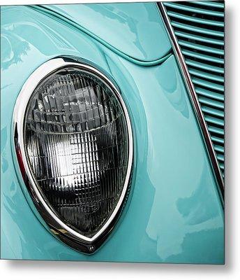 1937 Ford Sedan Slantback Square Metal Print by Carol Leigh