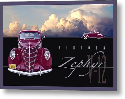 1937 Lincoln Zephyr Metal Print