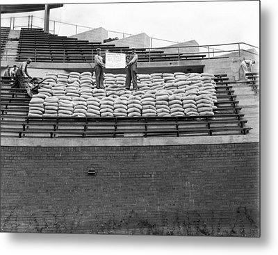 1937 Load Test At Wrigley Field Bleachers Metal Print