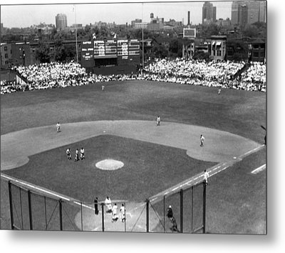 1937 Opening Day At Wrigley Field Metal Print by Retro Images Archive
