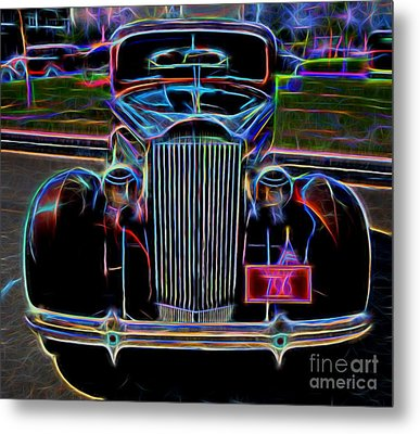 1937 Packard 120 Business Coupe - Vintage Car Metal Print by Gary Whitton