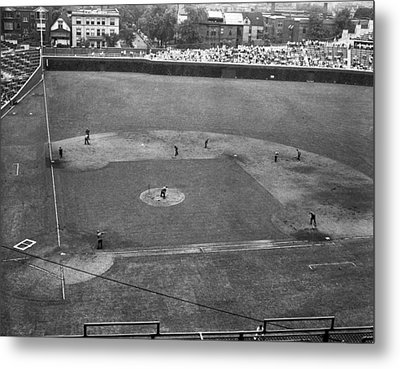 1937 Wrigley Field Scoreboard Metal Print by Retro Images Archive