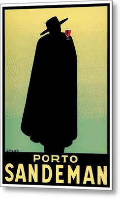 1938 - Porto Sandeman French Wines Advertisement Poster - Color Metal Print