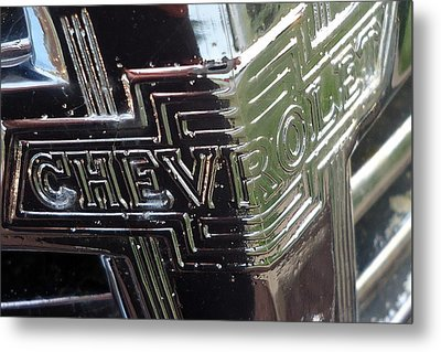 1938 Chevrolet Sedan Emblem Metal Print