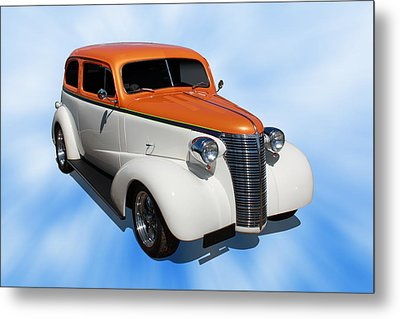 Metal Print featuring the photograph 1938 Chevy Tudor by Keith Hawley