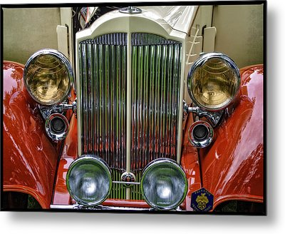 Metal Print featuring the photograph 1928 Classic Packard 443 Roadster by Thom Zehrfeld