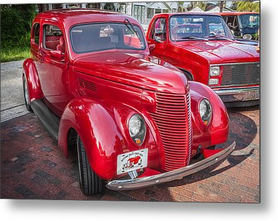 1938 Ford 2 Door Sedan Painted  Metal Print by Rich Franco