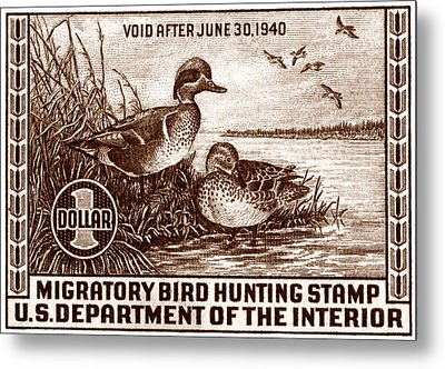 1939 American Bird Hunting Stamp Metal Print