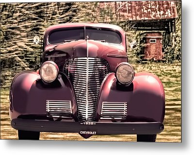 1939 Chevy Immenent Front Art II Metal Print by Lesa Fine