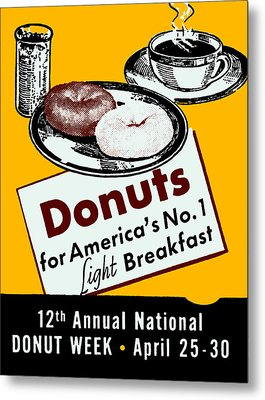 1939 Donut Poster Metal Print by Historic Image
