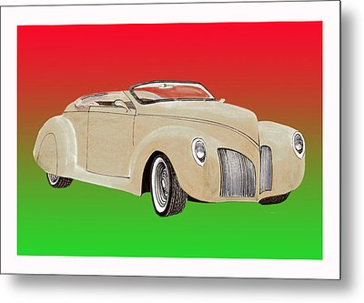 1939 Lincoln Zephyr Speedster Metal Print by Jack Pumphrey