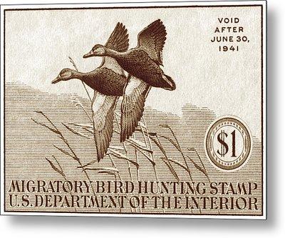 1940 American Bird Hunting Stamp Metal Print