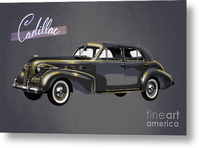 1940 Cadillac Sixty-two Sedan Metal Print