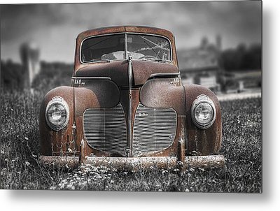 1940 Desoto Deluxe With Spot Color Metal Print