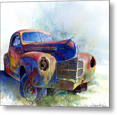 Metal Print featuring the painting 1940 Dodge by Andrew King