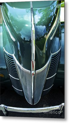 Metal Print featuring the photograph 1940 Ford Classic Deluxe Two Door Sedan V-8 by Jerry Cowart