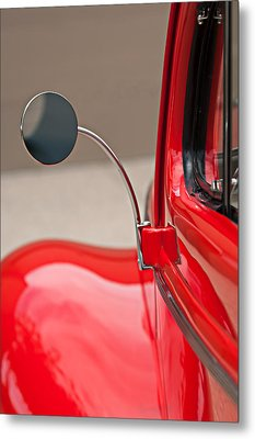 1940 Ford Deluxe Coupe Rear View Mirror Metal Print by Jill Reger