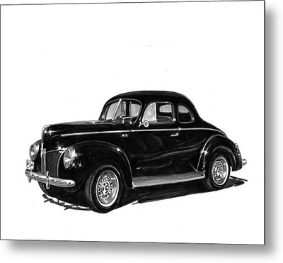 1940 Ford Restro Rod Metal Print