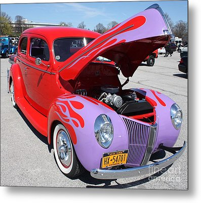 1940 Ford Two Door Sedan Hot Rod Metal Print by John Telfer