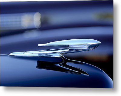1940 La Salle Hood Ornament Metal Print by Jill Reger