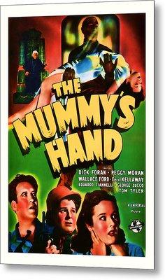1940 The Mummys Hand Vintage Movie Art Metal Print
