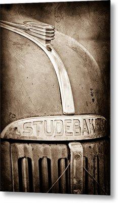 1940's Studebaker Truck Hood Ornament - Emblem Metal Print