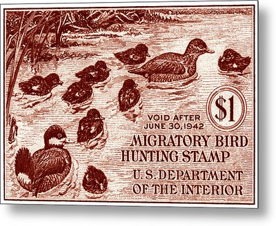 1941 American Bird Hunting Stamp Metal Print