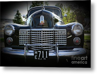 1941 Cadillac Front End Metal Print by Paul Ward