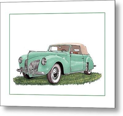 1941 Lincoln V-12 Continental Metal Print by Jack Pumphrey