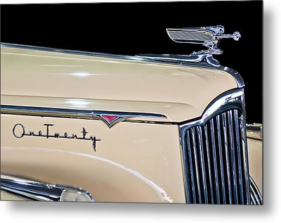 1941 Packard Hood Ornament Metal Print by Jill Reger