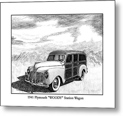 1941 Plymouth Woody Metal Print