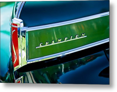 1941 Sudebaker Champion Coupe Emblem Metal Print by Jill Reger