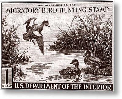 1942 American Bird Hunting Stamp Metal Print