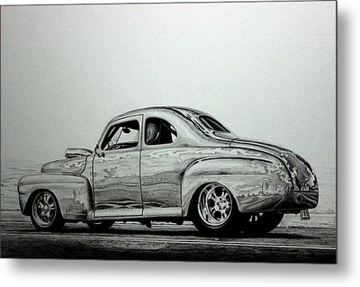 1942 Ford Super Deluxe Coupe Metal Print by Gary Reising