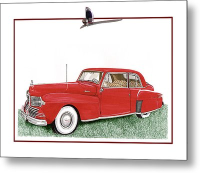 1942 Lincoln Continental Coupe Metal Print by Jack Pumphrey
