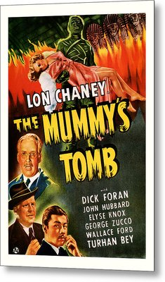1942 The Mummys Tomb Vintage Movie Art Metal Print by Presented By American Classic Art