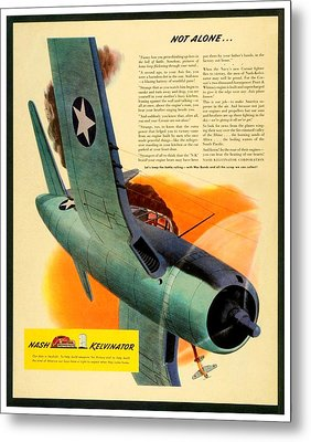 1943 - Nash Kelvinator Advertisement - Corsair - United States Navy - Color Metal Print