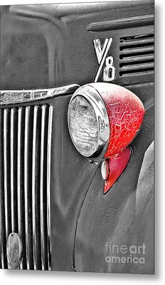 1944 Ford Pickup - Headlight - Sc Metal Print by Mary Carol Story