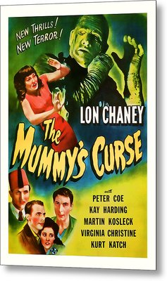 1944 The Mummys Curse Vintage Movie Art Metal Print