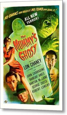 1944 The Mummys Ghost Vintage Movie Art Metal Print