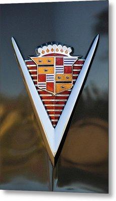 1947 Cadillac Emblem Metal Print by Jill Reger